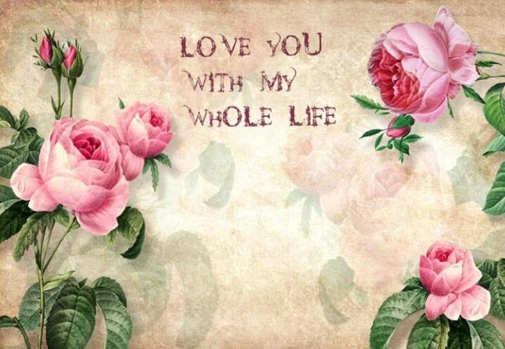 free shipping Wall Mural 3D Wallpaper Vintage Murals Flower Wal Jacksonville Mall Rose Pink