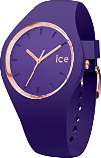 Ice-Watch - Ice Glam Colour Violet - Montre Violette pour Femme avec Bracelet en Silicone - 015696 (Medium)