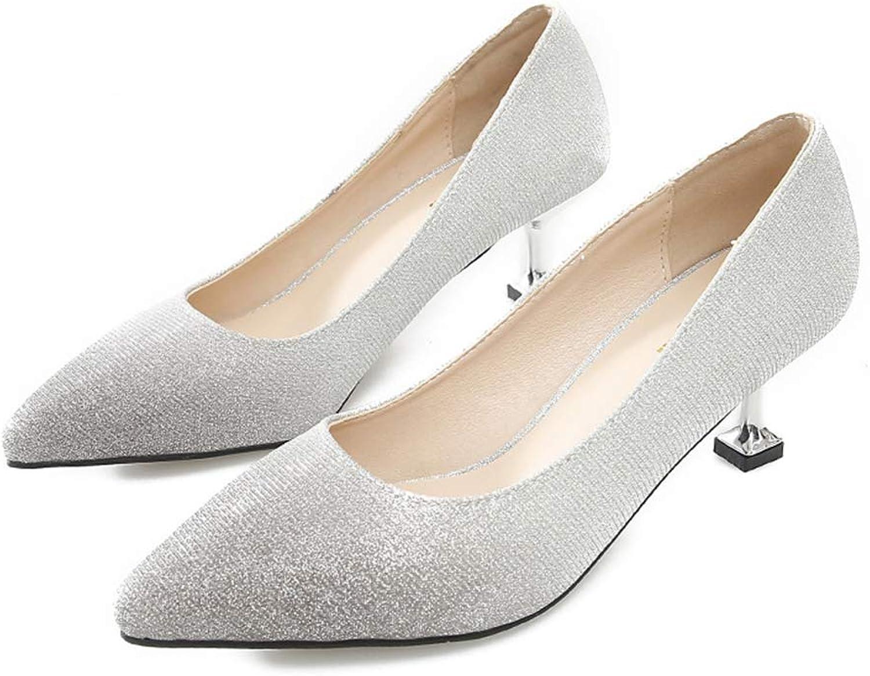 Lady's shoes New Sexy High Heel Women Pumps Elegant Lady Dress shoes Gradient color Supper Pumps Party & Evening (color   B, Size   39)