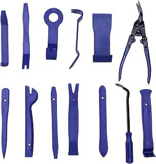 Vosarea 13 peças Kit de reparo de acabamento de carro Alicate de clipe automático Removedor de fixação (azul)