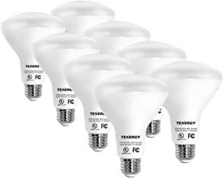 Tenergy Dimmable LED Flood Light Bulbs, 60 Watt Equivalent (8W), Warm White Soft White (2700K), BR30 E26 Medium Standard Base Recessed Light Bulbs for Can Ceiling Light, UL Listed (Pack of 8)