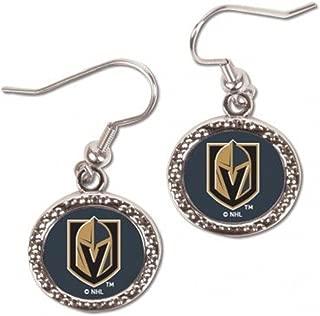 Vegas Golden Knights Round Dangle Earrings