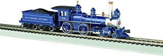 Bachmann Industries 4-4-0 American Steam DCC Sound Value Baltimore & Ohio with Coal Load Locomotive (HO Scale)
