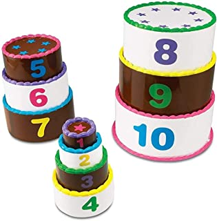 """Learning Resources LER7312 Smart Snacks Stack and Count Layer Cake,5"""",Multi-color"""