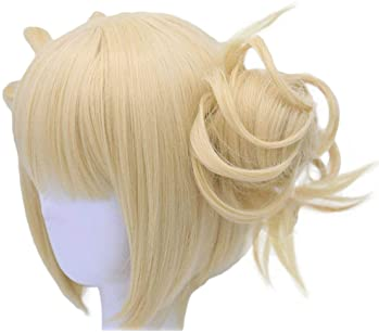Anogol Hair Cap+613 Blonde Wigs Anime Cosplay Wigs Short Wavy Synthetic Hair With Bangs Fringe Hairstyles For Lonita ...