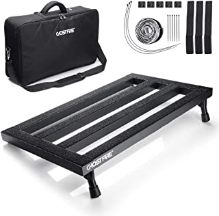 Pedal Board, Guitar Effects Pedal Board Aluminum with UPGRADED Bag, Lightweight Portable Electric Guitar PedalBoard with Upgraded Bag, 19.8 x 11.5, 3.3 lb, by Vangoa