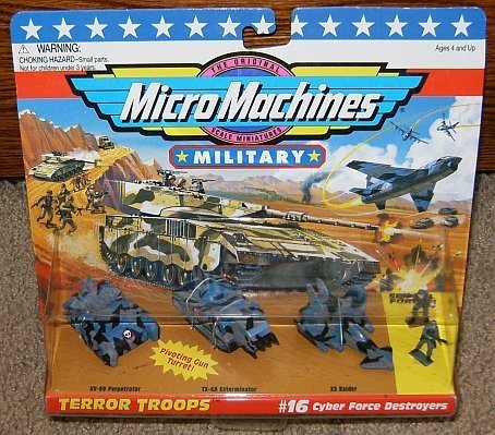 Micro Machines Cyber Force Destroyers #16 Military Collection
