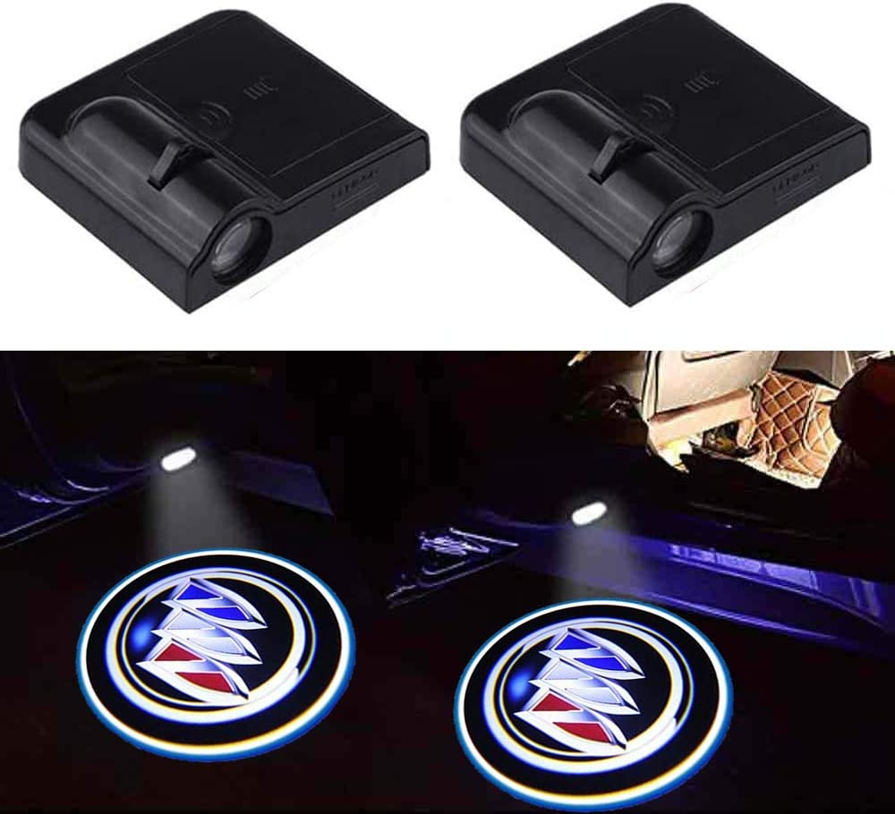 2Pcs Wireless Car Door Welcome Lights for American Flag,Car Door Logo Led Projector Lights Ghost Shadow Lights Suitable for Most American Cars Tribute to your beloved motherland