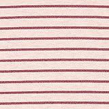 Fabulous Fabrics Jersey rosa, Streifen, 150cm breit –