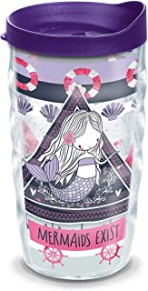 Tervis 1318910 Mermaid Sailor Pattern Insulated Tumbler with Wrap and Lid, 10 oz Wavy - Tritan, Clear
