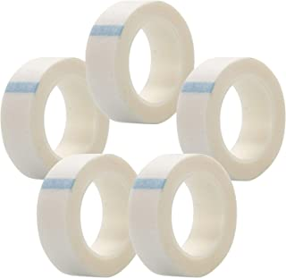 anmas rucci Professional 5Pack Eyelash Tape White Paper Fabric Tape for Eyelash Extension Supply, 0.5 Inch x 10 Yard Each ...