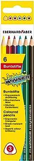 Eberhard Faber Winner 511406 Lot de 6 crayons de couleur 3 compartiments