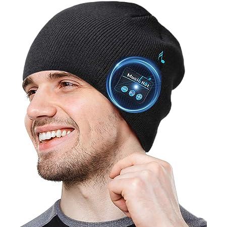 V5.0 Wireless Beanie Hat Invernale con Cuffia Altoparlante Stereo e Microfono per Parlare a Mani Libere Ascolto Musica Sport Running Esercizio Sci Uomo Donna Natale Regali ULTRICS Cappello Bluetooth
