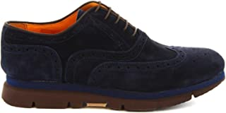 LEONARDO SHOES Luxury Fashion Mens 38636BLUE Blue Lace-Up Shoes | Spring Summer 19