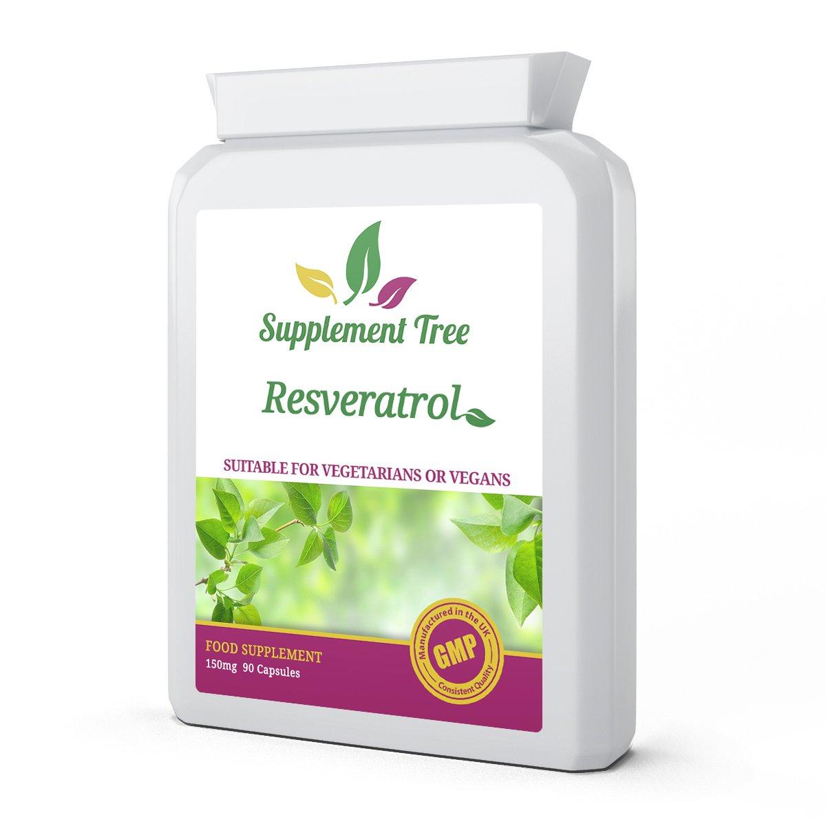 Resveratrol 150mg 90 Vegetarian Capsules High Strength Trans