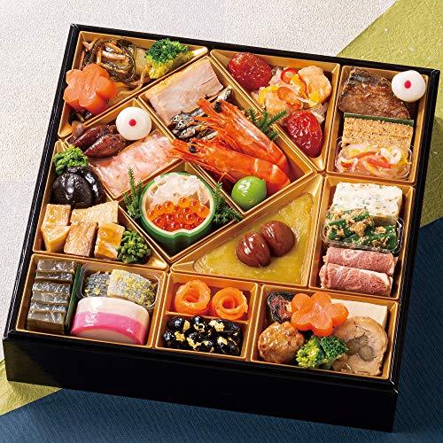 富山 千里山荘 おせち料理 2021 8.5寸 一段重 32品 盛り付け済み 冷蔵おせち 2人前〜3人前 お届け日:12月31日