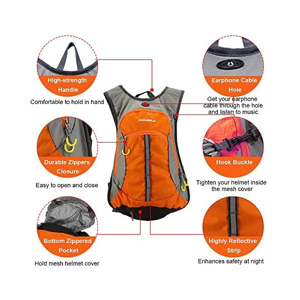 61a1VwE1kjL. SS600  - Lixada Mochila transpirable e impermeable con capicidad de 15L para bicicleta, viajes al aire libre, montañismo…