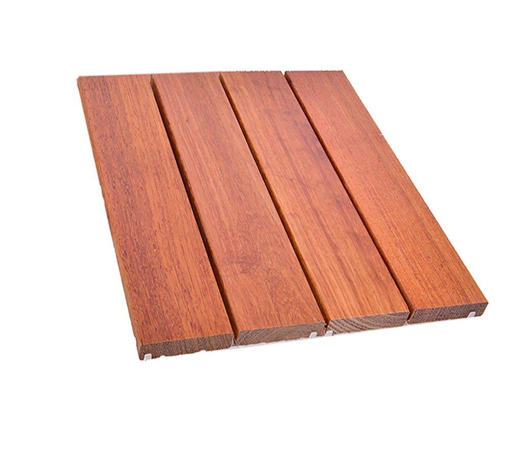 piso Piso de madera, patio al aire libre terraza del jardín conservante suelo de mosaico de