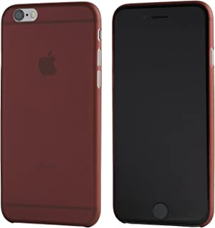 iPhone 6 Case, TOTALLEE The Scarf - The Thinnest Case for iPhone 6 / 6S - Ultra Thin & Ultra Light - Slim Minimal Lightweight 4.7 Screen (Burgundy Red)