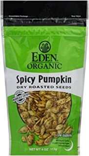 Eden Pumpkin Seeds Spicy with Tamari 4.0 OZ(Pack of 6)