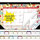 Desk Calendar 2021-2022: Large Monthly Pages 17 x 11-1/2 Inches Runs from July 2021 Through December 2022-18 Monthly Desk/Wall Calendar can be Used Throughout 2022