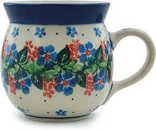 Polish Pottery Bubble Mug 8 oz Summer Wreath