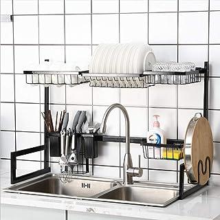 Dish Drying Rack Over Sink Kitchen Supplies Storage Shelf Countertop Space Saver Display Stand Tableware Drainer Organizer...