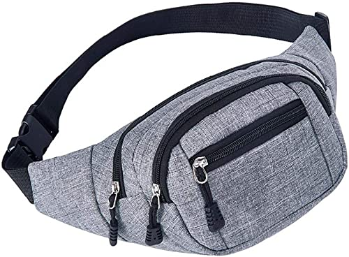 ONERIOME Unisex Outdoor Zip Waist Pack Bag Perfect for Hiking Cycling Running Daily Use Waist Pack Waterproof Sport Waist Bag