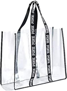 PINK Fashion Show Clear XL Jelly Beach Tote