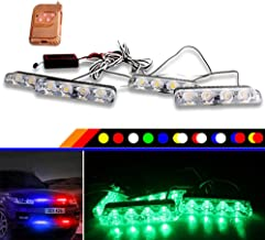 JZWDMD 16 LED Flash estroboscópico Emergencia Light12V Coche LED Parrilla Delantera/LED Deck Strobe Light Car Styling