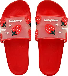 Pampy Angel Strawberry Women's Flip Flops Slides Back Open Household Comfortable Slippers