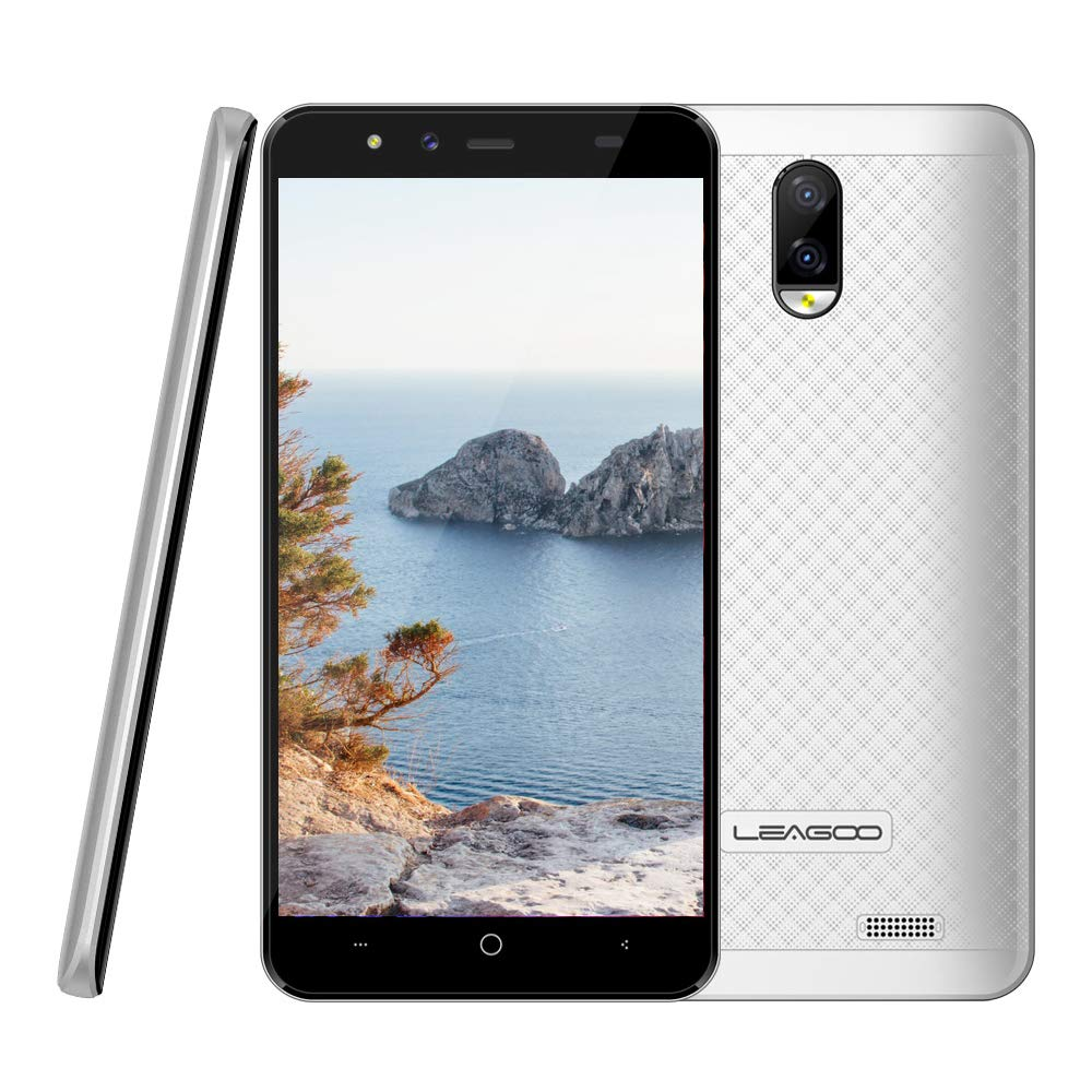 Telefono movil Libres Buenos nuevos Chinos 4g Smartphone leagoo z7 5 Pulgadas WiFi Bluetooth TF 32 GB Amplificador Dual sim 8gb ROM 5mp Camera Android Mobile,Blanco: Amazon.es: Electrónica