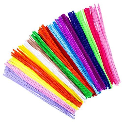 kentop 100pcs Limpiapipas Multicolor DIY Limpiapipas Juego chenilla alambre Varios Colores flexible para niños de peluche para manualidades y decorar