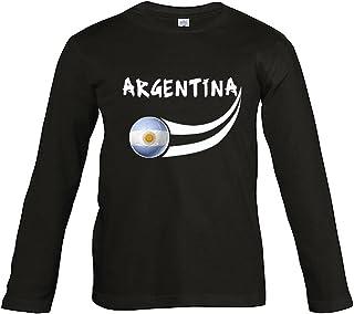 61fdc1d830d91 Supportershop T- Shirt Argentine Noir L/S Enfant Football