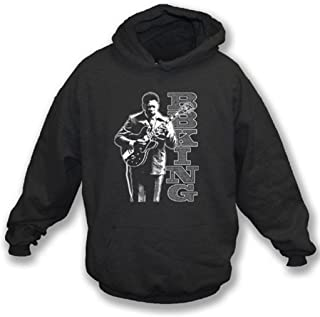 TshirtGrill Rey Blues Legend Hoodie del BB colorea negro