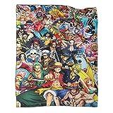 GY Super Soft Blanket One Piece Anime Blanket Japanese Manga Cool Japanese Cartoon Sauron Nami Robin Tokai Adventure Wano Kuni Warm Blankets in The Living Room 30x40inch(80x100cm)