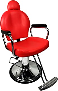 BarberPub Classic Hydraulic Barber Chair Salon Spa Hair Beauty Chair Styling Equipment 3022 (Red)