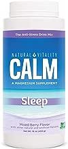 Natural Vitality Natural Calm Calmful Sleep Magnesium Anti Stress Extra Sleep Support, Mixed Berry, 16 oz (Packaging May Vary)