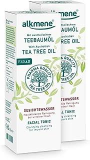 alkmene Teebaumöl Gesichtswasser für unreine Haut - Anti Pickel, Hautunreinheiten & Rötungen - vegane Gesichtsreinigung ohne Silikone, Parabene & Mineralöl im 2er Pack 2x 150 ml