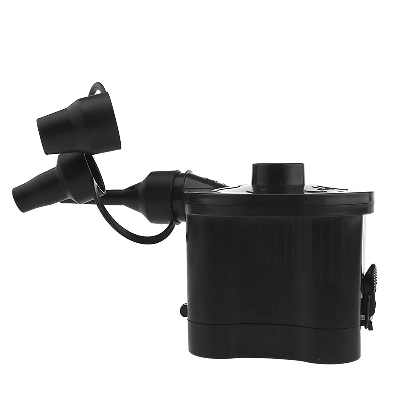 Creative Idear Black Air Pump Inflator Electric Portable Battery Powered with 3 Nozzles ABS for Toys Air Bed