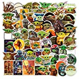Star Wars Stickers Baby Yoda Stickers [100pcs] Cute Vinyl Decal for Laptop Hydro Flask Water Bottle Car Cup Computer Guitar Skateboard Luggage Bike Bumper, Kid Gift