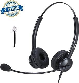 Cisco Headset Dual Ear Landline Headset with Microphone for Cisco IP Phone 7841, 7942G, 8841, 7931G, 7940, 7941G, 7945G, 7960, 7961, 7961G, 7962G, 7965G, 7970, 7971, 7971G, 7975, 7975G