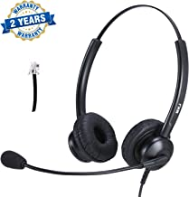 Cisco Headset Dual Ear Landline Headset with Microphone for Cisco IP Phone 7841, 7942G, 8841, 7931G, 7940, 7941G, 7945G, 7960, 7961, 7961G, 7962G, 7965G, 7970, 7971, 7971G, 7975, 7975G