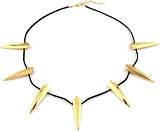 Black Panther Necklace Wakanda King T'Challa Pendant Cosplay Costume Accessories Golden
