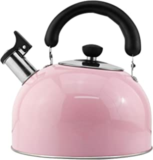 Tea Kettle for Stove Top Stainless Steel-whistle Tea Kettle, Ergonomic Heat-resistant Handle, Home Kitchen Tea Kettle/Pink...