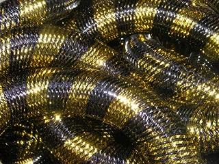 Pukido Metallic Black Gold Stripe Cyberlox Tubular CRIN Hair Extensions 60 Yard 16mm