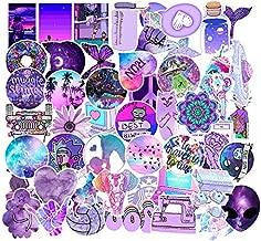 Mai Zi Stickers for Water Bottles 50 pcs Laptop Stickers Waterproof Stickers Pack Cute Aesthetics Stickers for Teens Girls boy (Purple)
