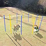 Eono by Amazon Agility Exercise Training Equipment for Pets, Dogs, Outdoor Games 12 poles