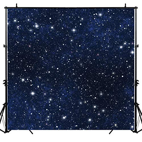 Sensfun Night Sky Star Backdrop Universe Space Theme Starry Photography Backdrops Galaxy Stars Birthday Photo Studio Booth Background 6x6ft