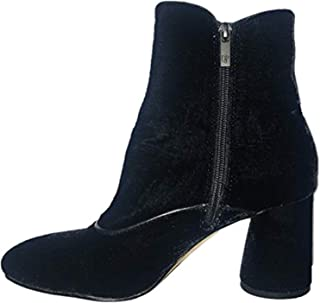 Donald J Pliner Women's Velvet Suede Ankle Bootie with Side Zipper